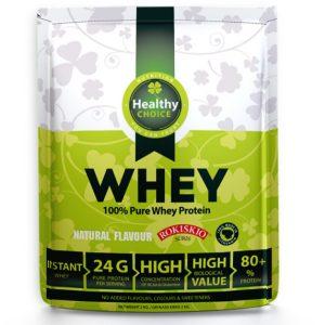 Proteinas – 100% grynas išrūgų baltymas HEALTHY CHOICE, 2 kg